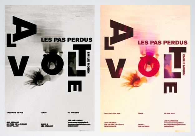Les Poster Design 2: Pas Perdus Association de Danse Montpellier